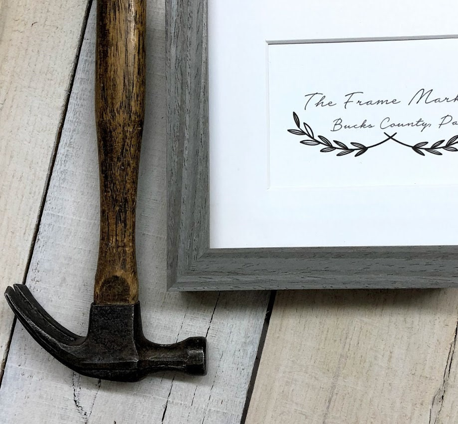 Woodland Grey Natural Stained Wood Picture Frame With Mat
