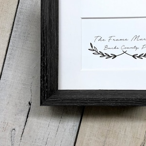 9x12 16x20 Old Iron Wood Frame. Standard /& Custom Sizes Available 14x16 11x14 Rivet Industrial Picture Frame with White Mat 8x10