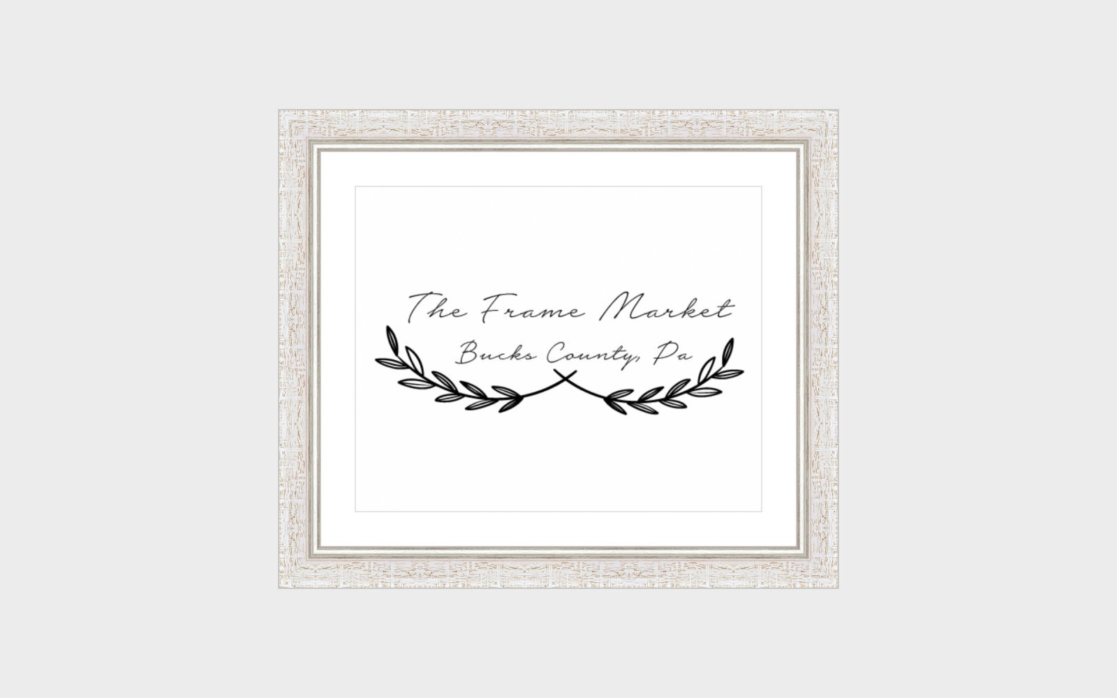Picture Frame With White Mat Aspen White Silver Wood