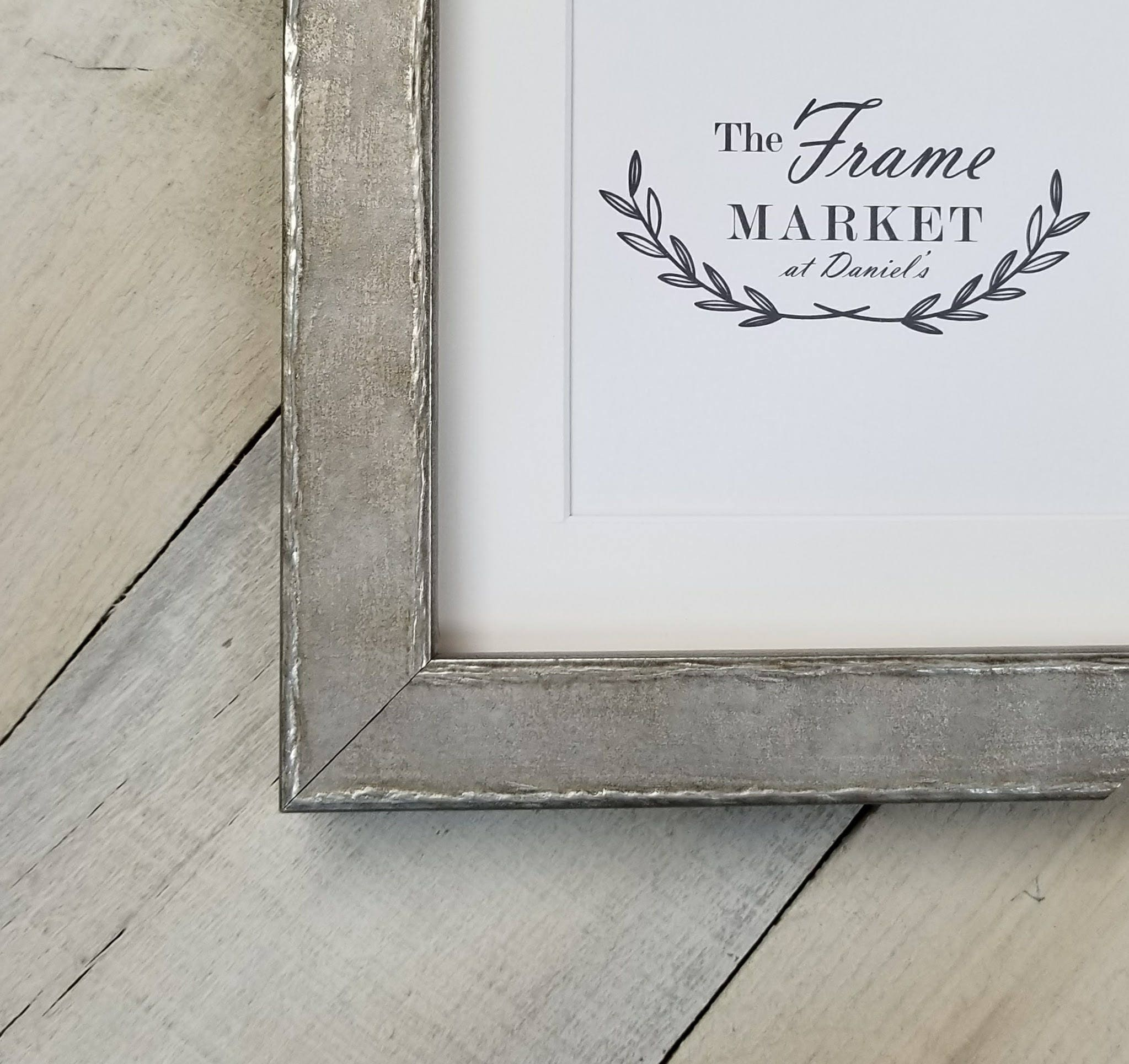 Edda Silver Wood Picture Frame Wiht White Mat 8x10 9x12 Etsy