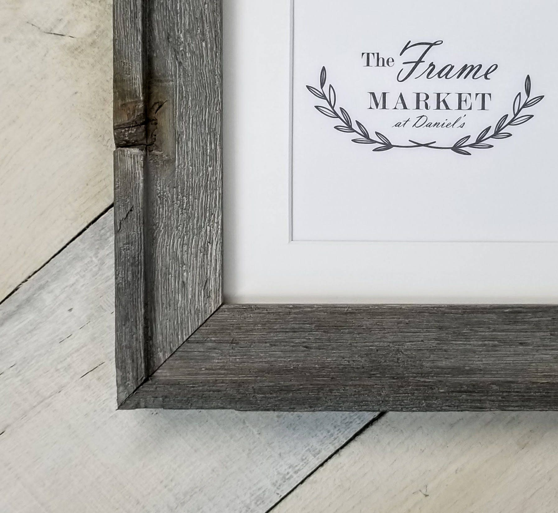 American Barnwoods Grey Picture Frame With White Mat 8x10