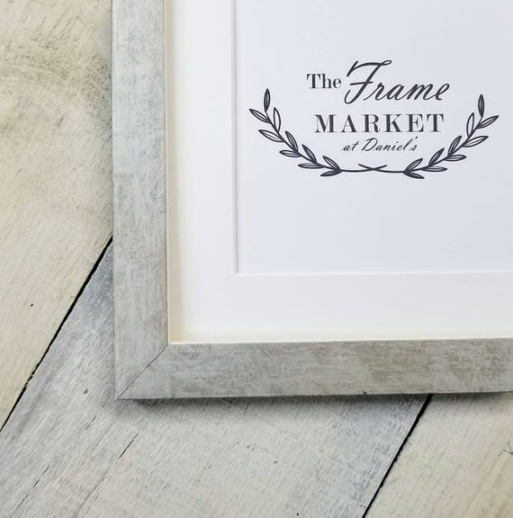 Maire Custom Wood Picture Frame in White Silver with White Mat | Etsy