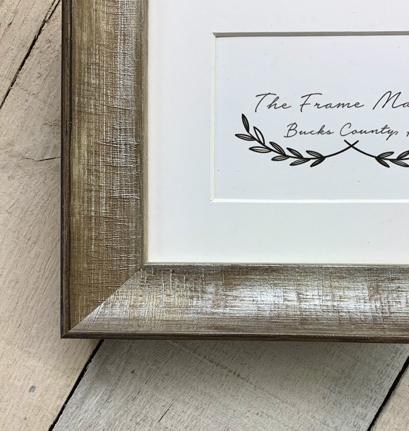 Lumina Bronze Gold Scoop Distressed Wood Picture Frame
