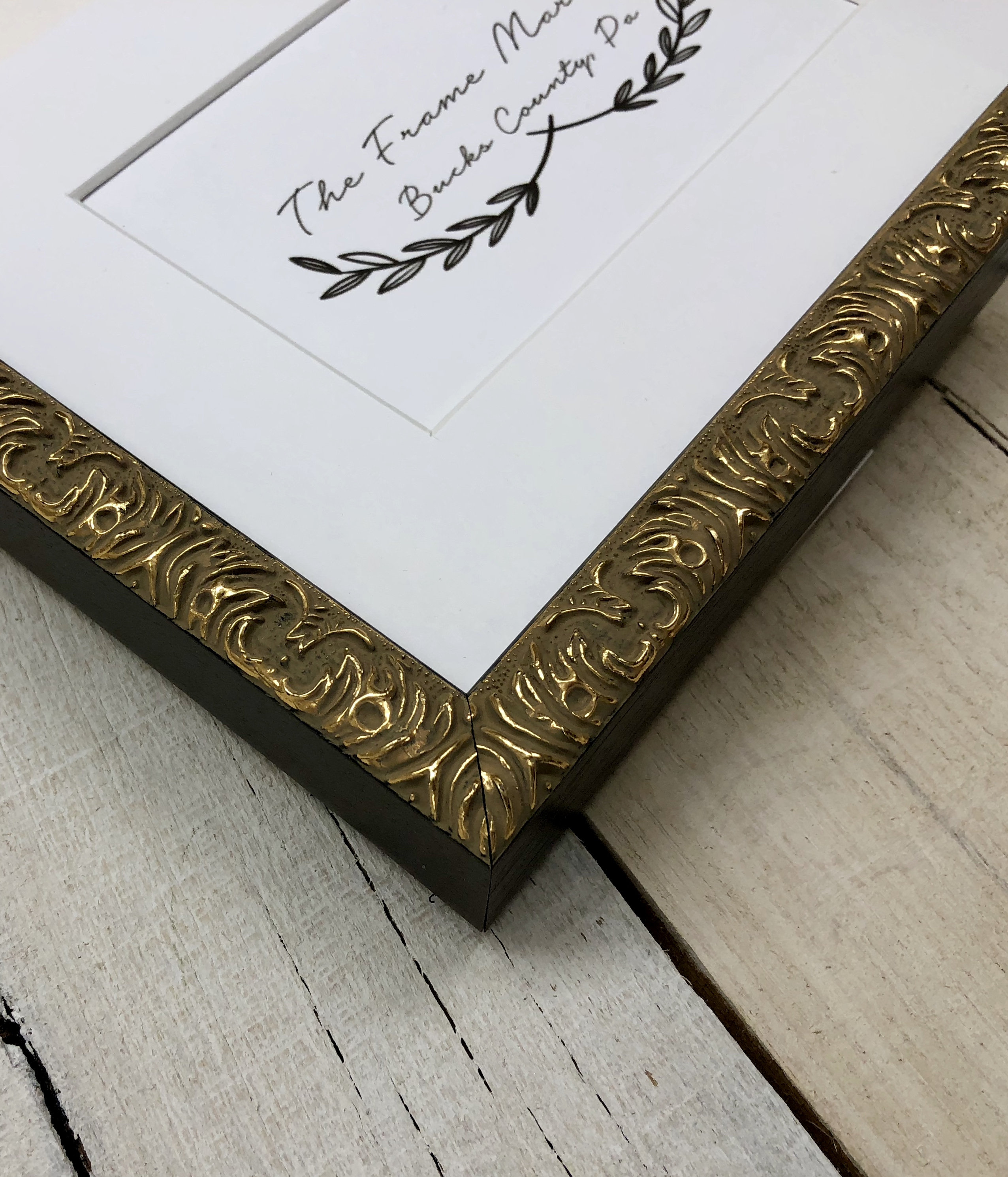 Elysee Gold 3 4 Wood Picture Frame With White Mat 8x10