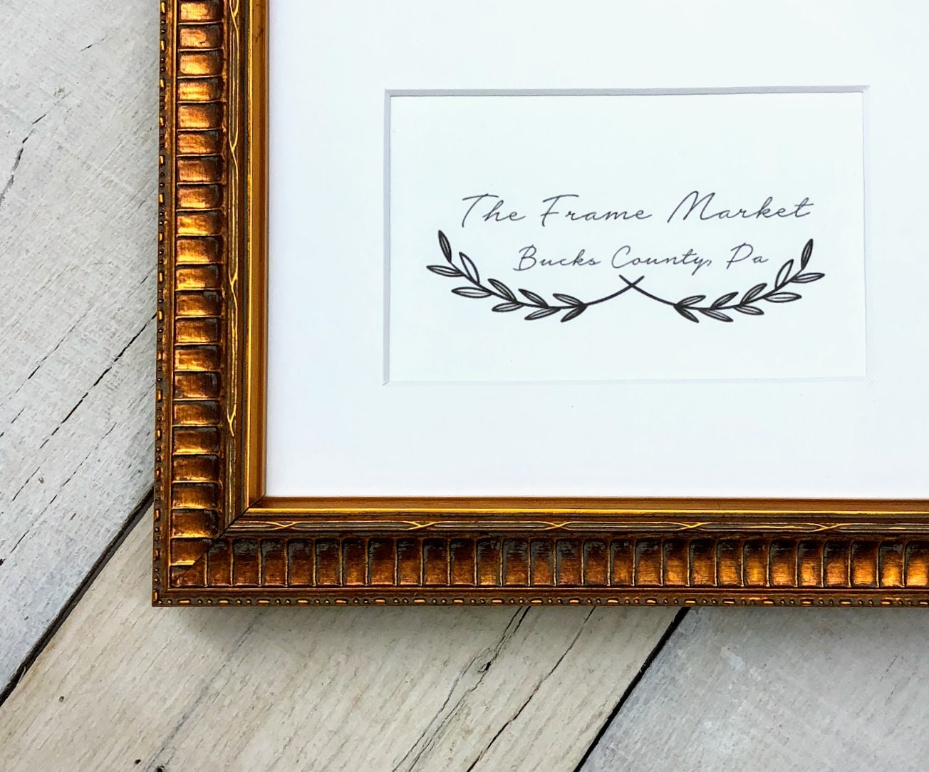 Margaux Gold Wood Picture Frame With White Mat 8x10 9x12