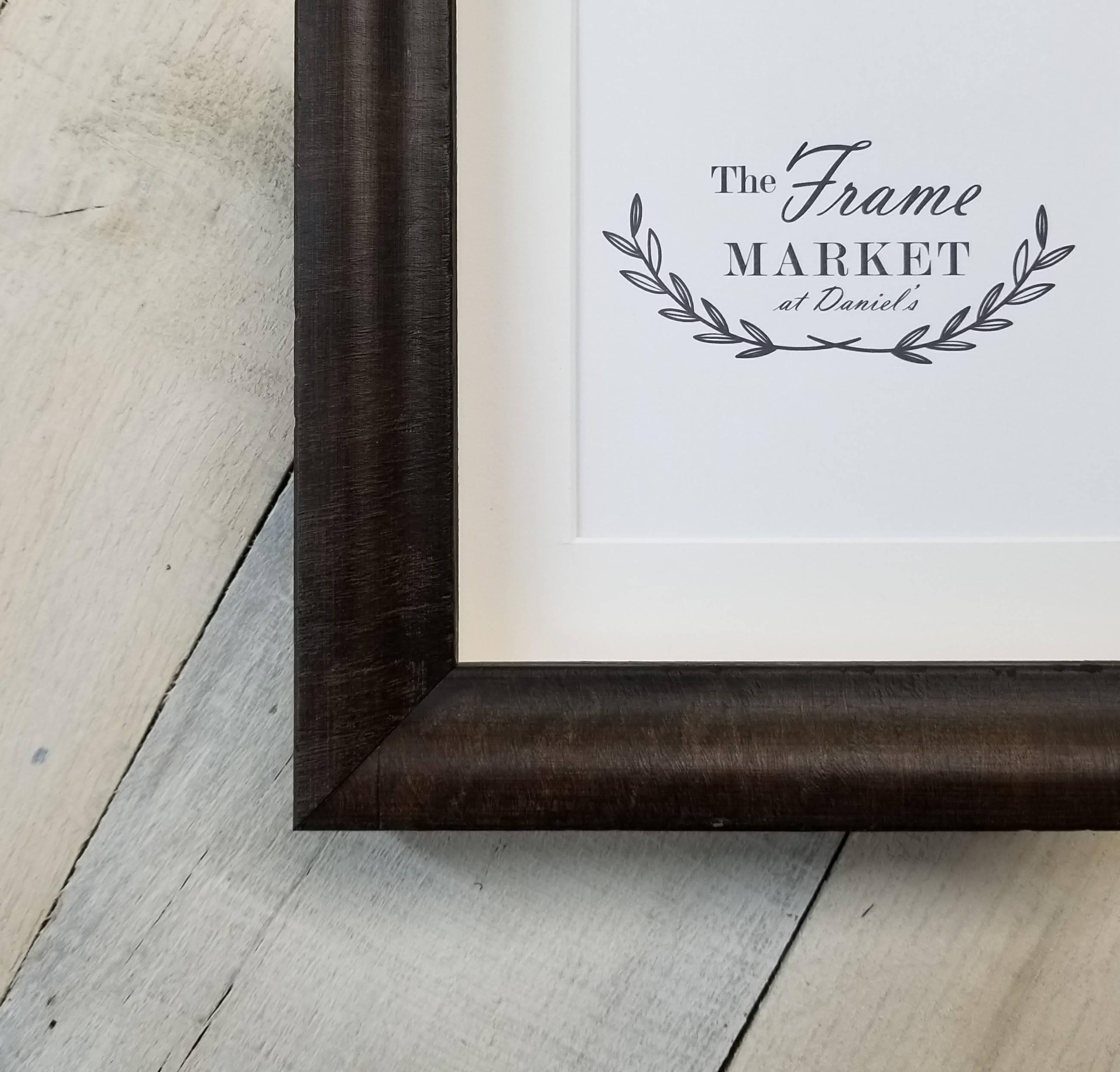 Bram Burl Amaretto Wood Picture Frame With White Mat 8x10