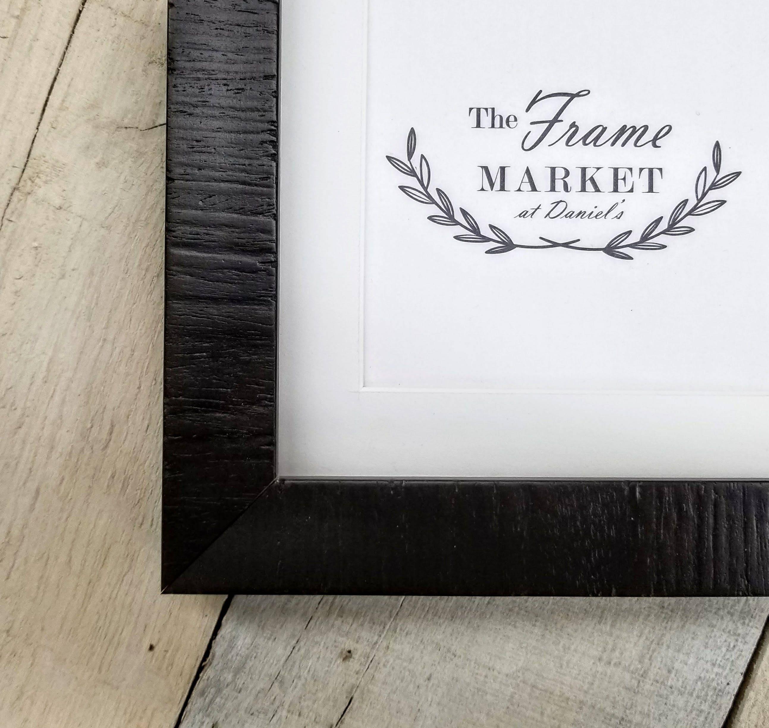 Lanais Ebony Walnut Wood Picture Frame With White Mat 8x10