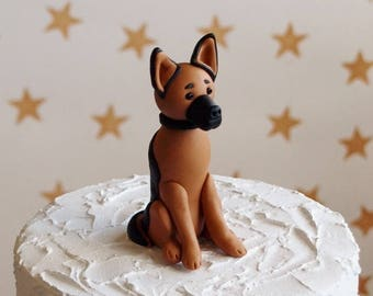 German Shepherd Alsatian Cake Topper
