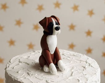 Boxer Dog Cake Topper