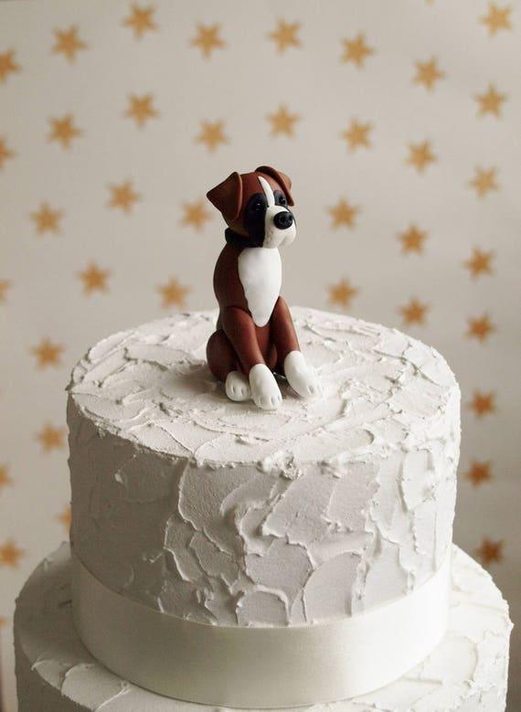Boxer Dog Cake Topper Dog Wedding Cake Topper Dog Birthday Etsy