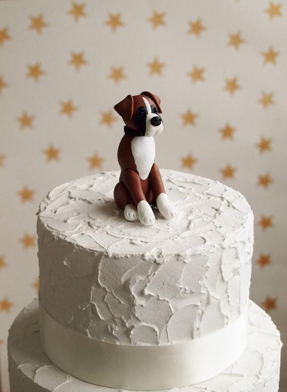 Boxer Dog Cake Topper Wedding Birthday