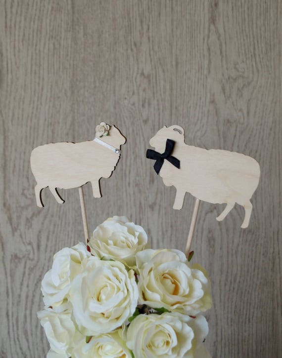 Sheep Wedding Cake Topper Farm Wedding Cake Topper Barn | Etsy