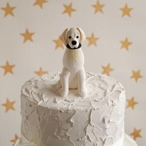 Stupendous Cream Retriever Dog Cake Topper Golden Retriever Cake Topper Etsy Funny Birthday Cards Online Alyptdamsfinfo