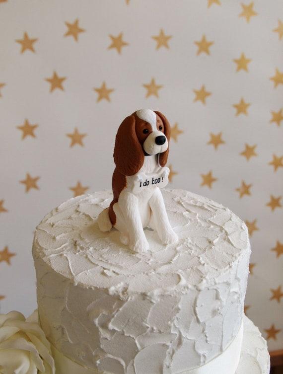 Blenheim Cavalier King Charles Spaniel Cake Topper