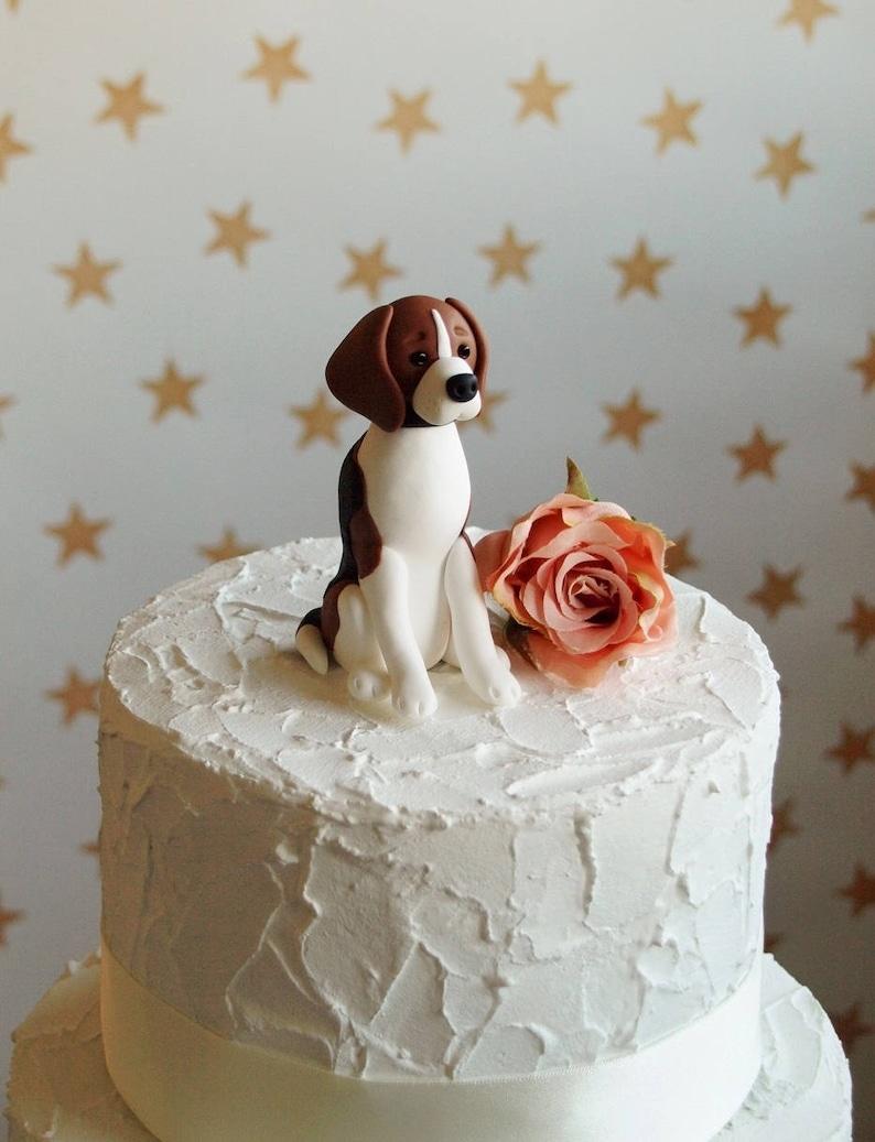 Beagle Hond Taart Topper Hond Bruidstaart Topper Hond Etsy