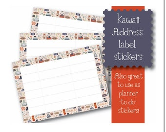 Kawaii Ink Bottle themed 10 x A7  Self Adhesive address labels snail mail