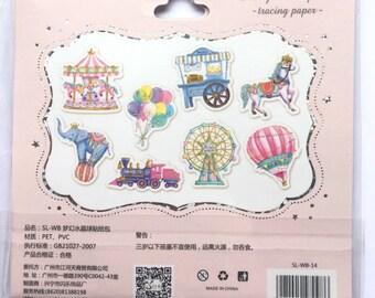 Kawaii funfair sticker flakes