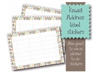 Kawaii Be Brave theme 10 x A7  Self Adhesive address labels snail mail