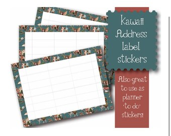 Kawaii fairies theme 10 x A7  Self Adhesive address labels snail mail