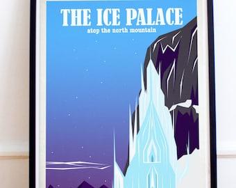 Ice Palace Travel Print - Frozen - Travel Poster - Poster Print - Art - Wall Art Poster Print (Available In Many Sizes)