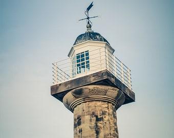 """Lighthouse Photography - Nautical Decor - Beach House - Lighthouse Decor - Coastal Art - Whitby - Coastal Decor - """"Classical Lighthouse"""""""
