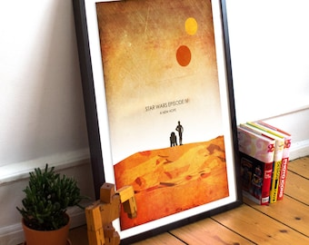 New Hope - Star Wars Episode IV Minimalist Art Poster Print - (Available In Many Sizes)