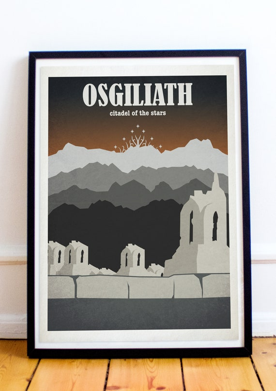 Osgiliath Lord Of The Rings The Hobbit Travel Poster Etsy