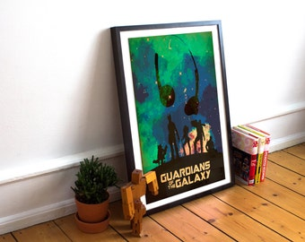 Guardians Of The Galaxy -  Art Poster Print - Marvel - Starlord - Groot (Available In Many Sizes)