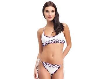 Crochet bikini, WHITE Swimsuit, Summer trends, LoveKnittings