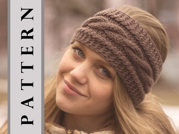Instant Download Knitting Pattern Headband Warm Ears Etsy