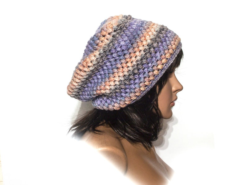0322daa32bed1 Crochet Hat Womens Hat Penelope Puff Stitch Slouchy Beanie