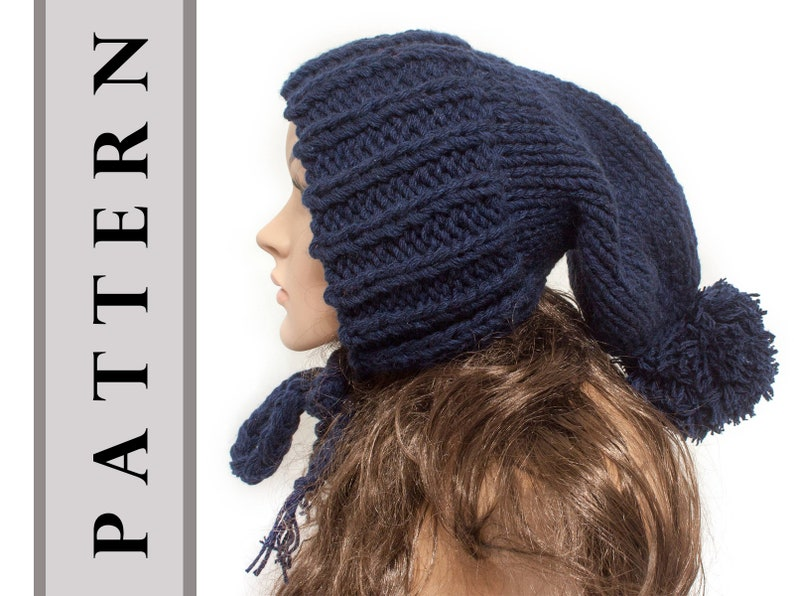 65eec0a273dcb Instant Download Knitting Pattern Sock Hat Slouchy