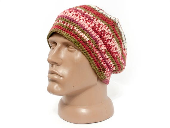 Unisex hat Hippie hat Slouch hat Mens hat Winter hat Hippie  40c9b851387