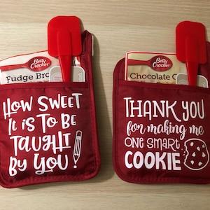 Teacher Gift Set Smart Cookie Pot Holder Teacher Gift Day Care Provider Gift Teacher Appreciation Accessories Included