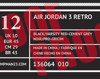 Etsy Giant of Adidas label voor Nike Vinyl en Air stickers Jordan aqS1fcngc