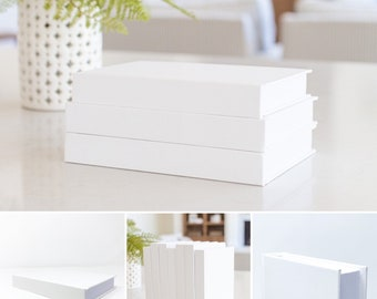 CovoBook | White Decorative Books | Real Blank Hardcovers | Home Décor, Office Staging, Wedding Display, Stage Set Prop, and Interior Design