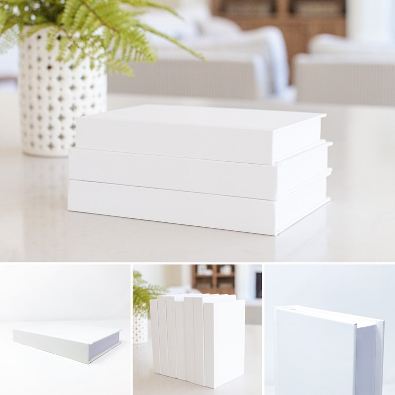 CovoBook  White Decorative Books  Real Blank Hardcovers  image 0