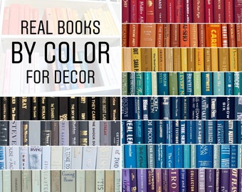 Real Books by Color | Choose your Colors | Office, Home, Staging, Wedding, Props, Shelf | Designer Thrift Used Decor | PRICE is PER BOOK