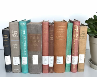 Former Library Book | Vintage Decorative Book | Used Thrift Bulk Ex-Library Decor | Create Your Own Set | Sold By Book | PRICE is PER BOOK