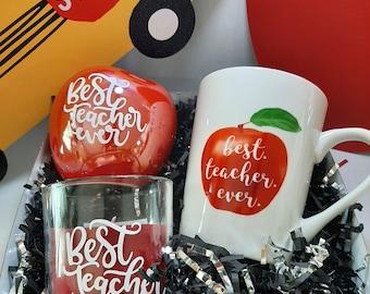 Best Teacher Ever Teacher Gift Set