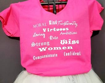 Virtuous Women T-shirt, Shirt, Clothing.
