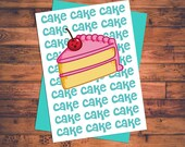 Pleasing Items Similar To Cake Cake Cake Cake Rihanna Birthday Cake Song Funny Birthday Cards Online Elaedamsfinfo