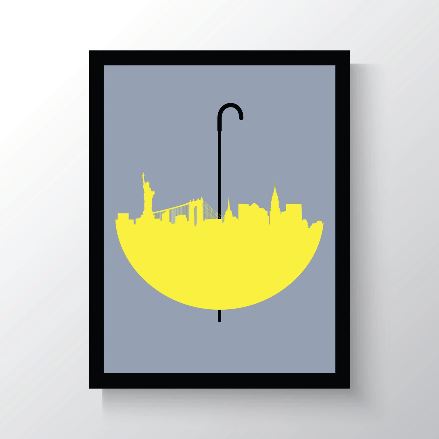 How I Met Your Mother Wall Art Print New York Skyline | Etsy