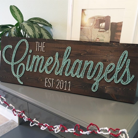 Large String Art Name Board Custom Name With Or Without Year Etsy