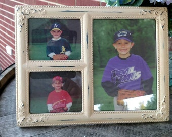 Picture frame holds three pictures. FREE SHIPPING!Item# 811168