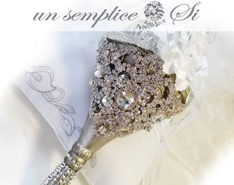 Bouquet Holder,Rhinestone Crystal Bouquet
