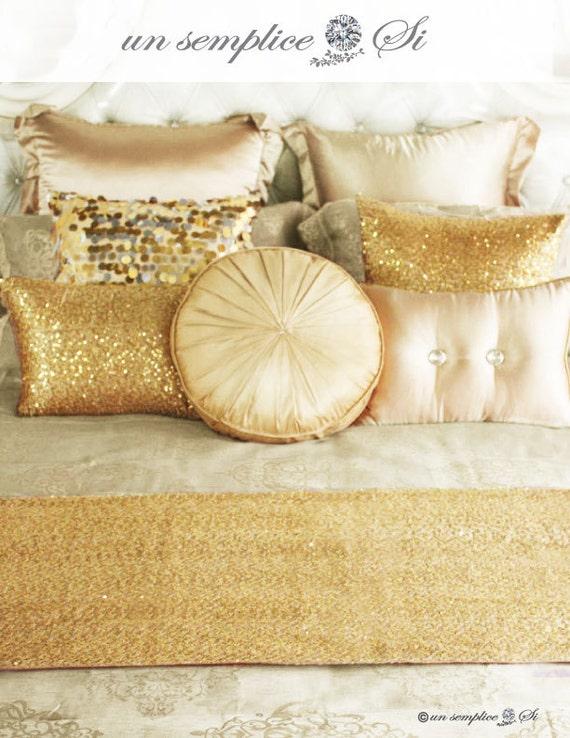 Sequin Bed Runner Sequin Throw Sequin Cover Sequin Blanket Etsy Inspiration Silver Sequin Throw Blanket