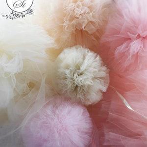 Hair Pom Poms Gender Reveal Wreath Headband Tulle Headband Pompons Pom Pom Wreath Pom Poms
