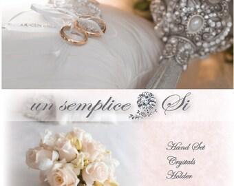 Brooch Bouquet Holder, Crystal Bouquet Holder,