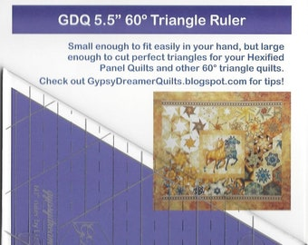 """GDQ 5.5"""" 60 degree acrylic triangle ruler"""